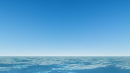 clear: Beautiful Sea and clear blue sky Vector