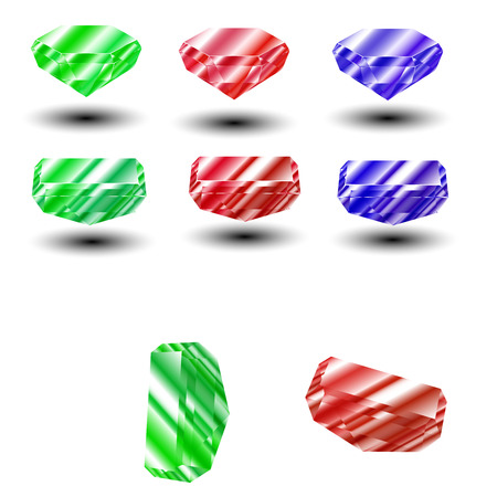 Colorful and shiny Rubin Vector