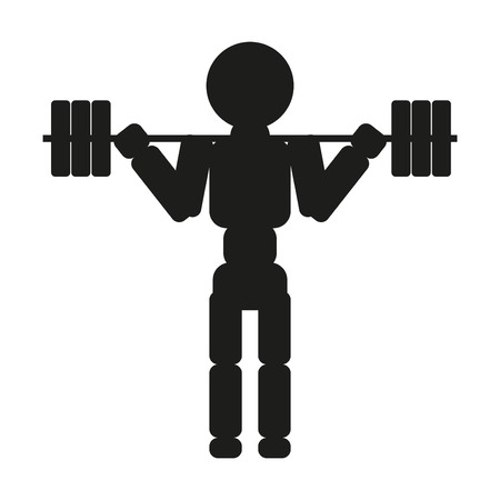 Weightlifter. Vector silhouette against white background