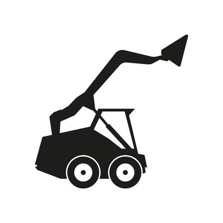 Tractor sign illustration. Vector. Black icon on white background Illustration