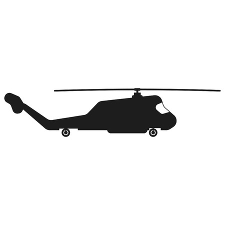 Helicopter sign illustration. Vector. Black icon on white background Stock Vector - 84277830