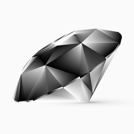 Shiny white diamond illustration Vector