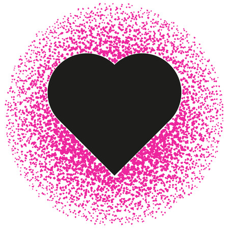 Black and pink valentine. Abstract pattern Vector Ilustração