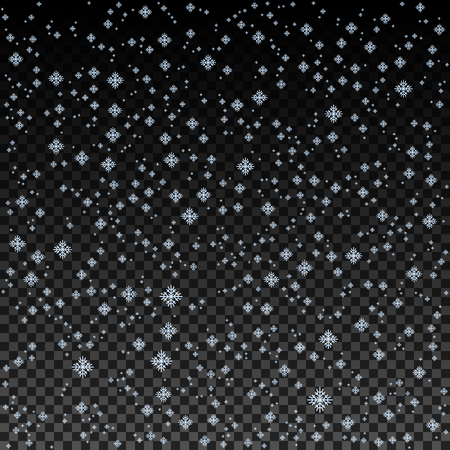 Blue Snowflake background vector. Christmas snow fall decoration effect.
