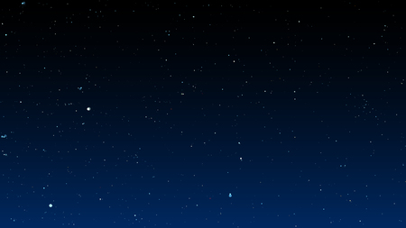 Bright stars on dark night sky. Vector illustration