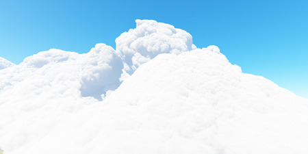 Blue sky with white clouds 3d render Stock Photo