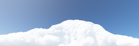 White clouds and blue sky. 3D render