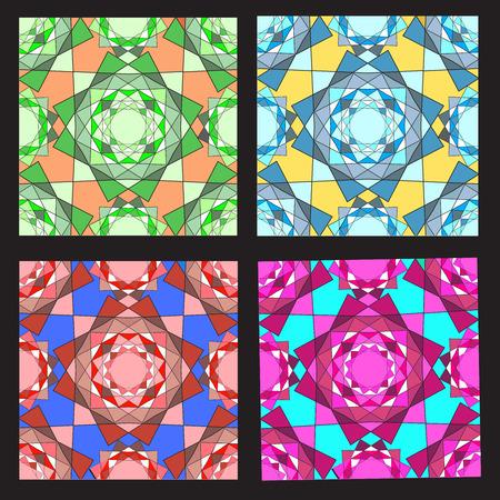 Irregular color mosaic Vector Ilustrace