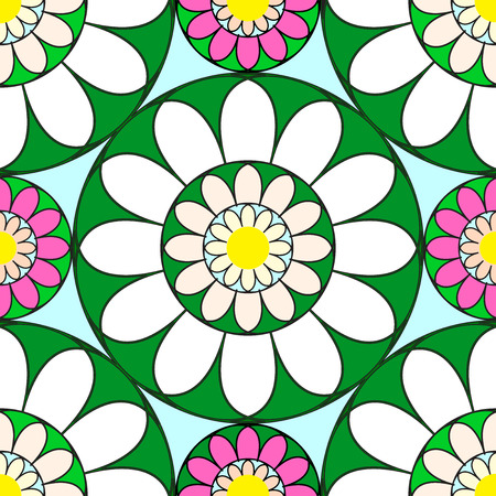 Seamless Floral Pattern In Vector illustration Ilustrace