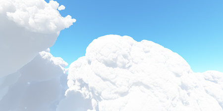 Big white cloud against the sky 3D render