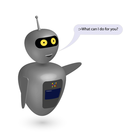 Chatbot say users What can I do. Vector
