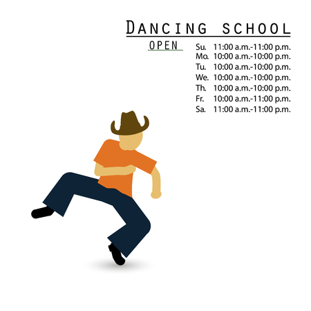 Dance school studio. Vector