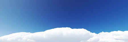 Blue sky background with clouds 3d render