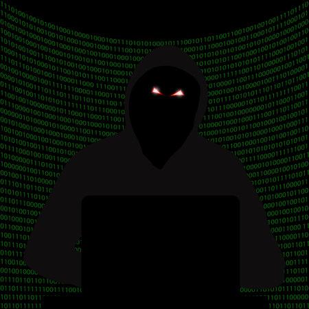 Darknet. Dark Internet. Hacker attack. Hacking system. Drop the system. Vector.