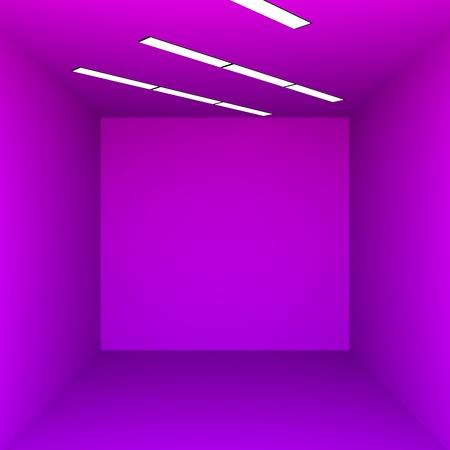 Purple room minimalism 3d render