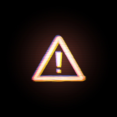 Attention sign Computer Hacked Error Concept. Vector