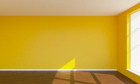 3d render orange bedroom Reklamní fotografie