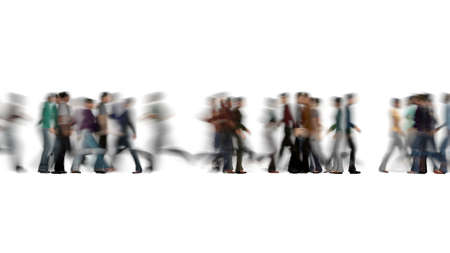 Crowd of people blur on white Business travel 3d render Stok Fotoğraf
