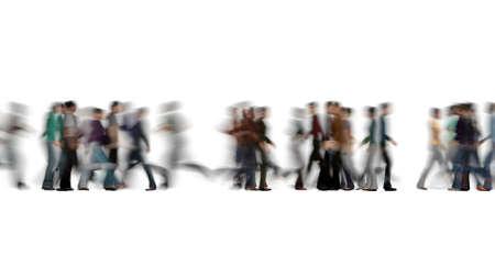 Crowd of people blur on white Business travel 3d render Foto de archivo