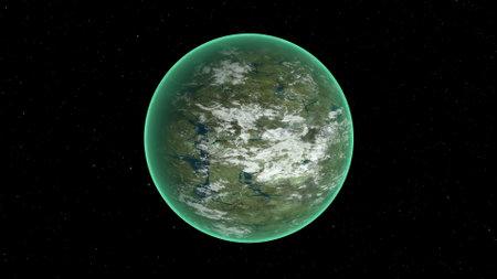Alien planet for scientific design Modern digital technologies Earth globe 3d render