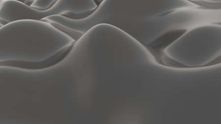Grey waves Concept art curve smooth motion graphic 3d render