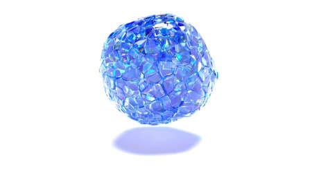 Explosion blue glass pieces 3d style Technology concept super slow motion 1000fps 3d render