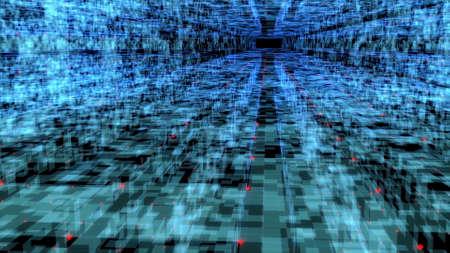 Big data digital city Future technology concept Mobile communication network 3d render
