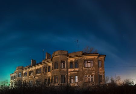 old house at night