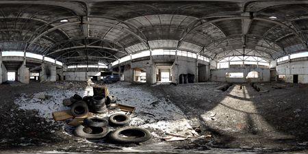 Abandoned depot panorama