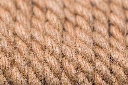 old beige rope macro background Stock Photo