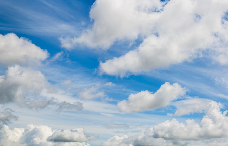 mixed clouds skyscape