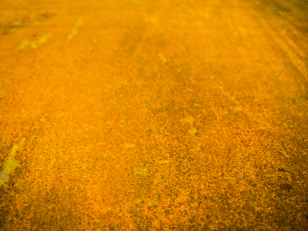 flat rusted sheet of metal selective focus background