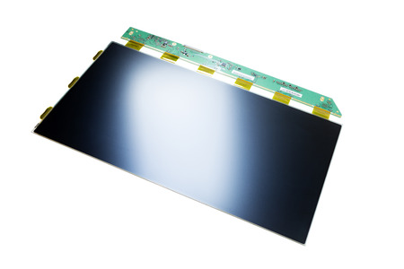 WXGA LCD TN panel part isolated on white background