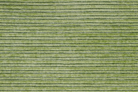 Seamless texture of horisontal stripped polyester furniture upholstery or carpet. White, green and black colors. Imagens
