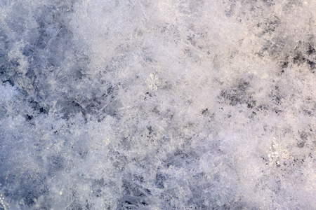 snow array with high magnification winter background