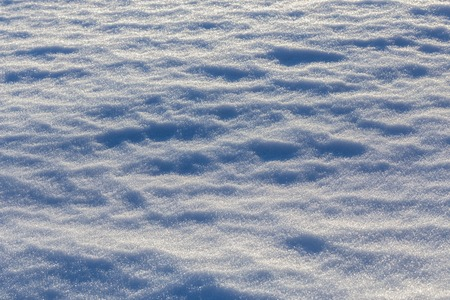 closeup snow field background with selective focus