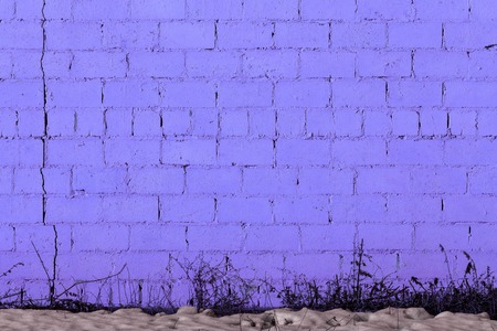 violet plaster rough brick outside wall texture Standard-Bild
