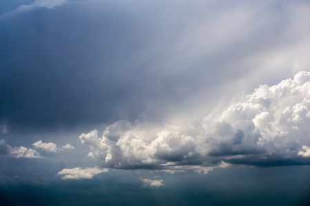 incoming storm cloudscape at march daylight in continental europe