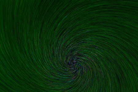 natural lens spin-zoom swirl explosion radial blurred green dots on black background. 版權商用圖片