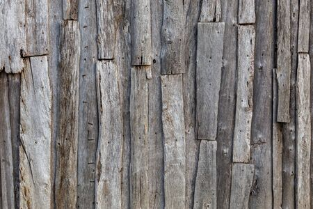 gray messy wooden planks wall suface texture and background Stock Photo