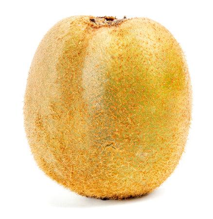 one ugly kiwi fruit isolated on white background 版權商用圖片