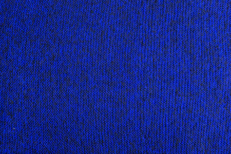 blue and black melange knitted texture and flat background