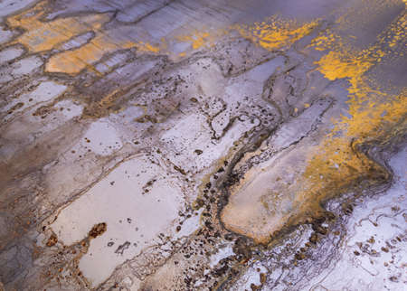 rusted cold rolled sheet metal - close-up abstract heavy industry and low tech background