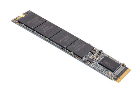 NVME M.2 SSD 2280 3Dnand SLC drive stick isolated on white background
