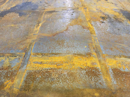 rusted sheet metal - close-up abstract heavy industry and low tech background Stock Photo