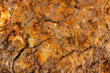 ferrous iron stone ore metallurgical macro texture and background