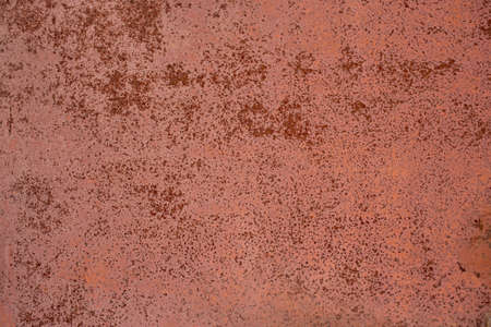 flat dry red rusted iron surface close-up background and texture
