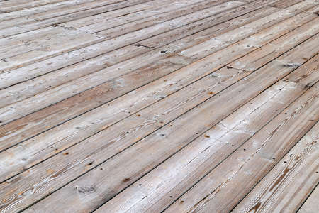 empty dry flat gray wooden deck background with diagonal Stock fotó