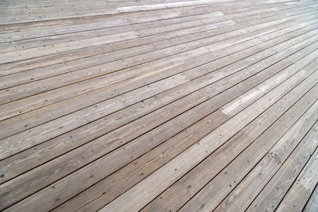 empty dry flat gray wooden deck background with perspective