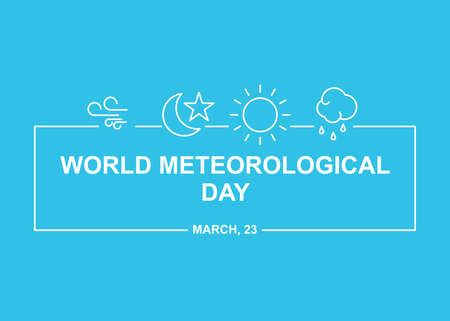 Meteorology simple illustration. Easy to edit with vector file. Can use for your creative content. Especially about world meteorological day campaign in this march.